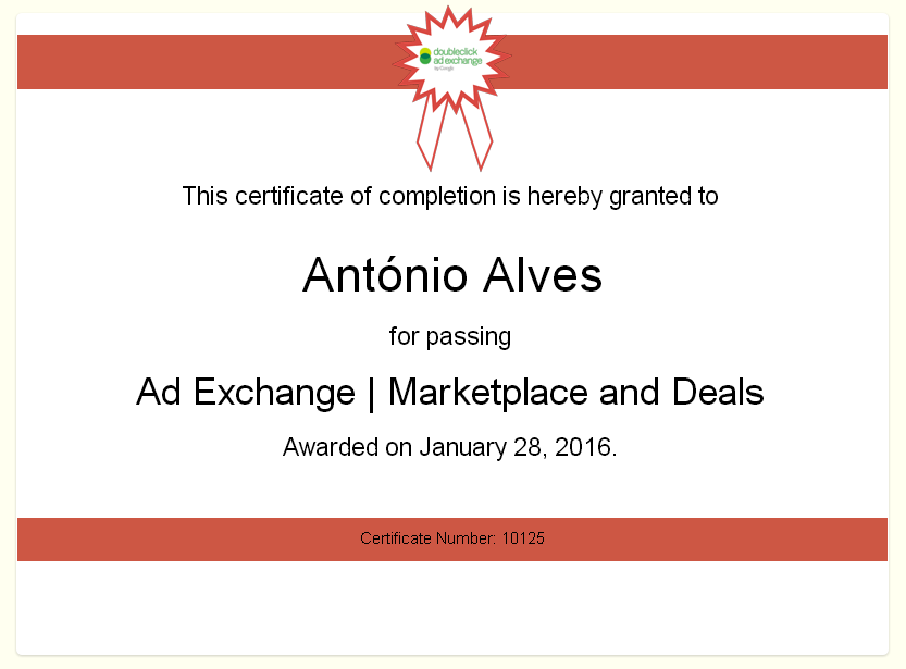 ad Exchange marketplace Exam
